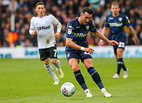 Leeds United's Jack Harrison in action<br /> <br /> Photographer Alex Dodd/CameraSport<br /> <br /> The EFL Sky Bet Championship Play-off  First Leg - Derby County v Leeds United - Thursday 9th May 2019 - Pride Park - Derby<br /> <br /> World Copyright © 2019 CameraSport. All rights reserved. 43 Linden Ave. Countesthorpe. Leicester. England. LE8 5PG - Tel: +44 (0) 116 277 4147 - admin@camerasport.com - www.camerasport.com