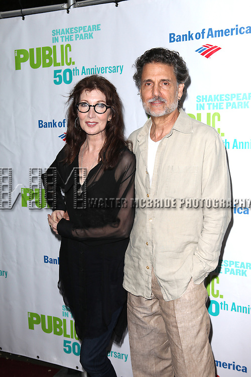 Joanna Gleason &  Chris Sarandon attending the Opening Night Performance of The Public Theater's 'InTo The Woods' at the Delacorte Theater in New York City on 8/9/2012. © Walter McBride/WM Photography