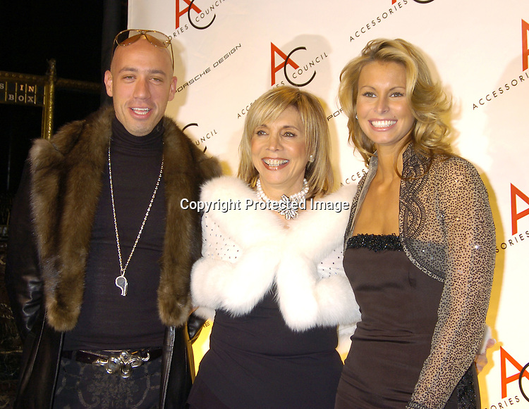 Robert Verdi, Sheila Block and Nikki Taylor ..at The Accessories Council 8th Annual ACE Awards on ..November 1, 2004 at Cipriani 42nd Street. ..Photo by Robin Platzer, Twin Images