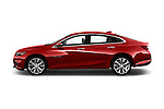 Car Driver side profile view of a 2016 Chevrolet Malibu 2LZ 4 Door Sedan Side View