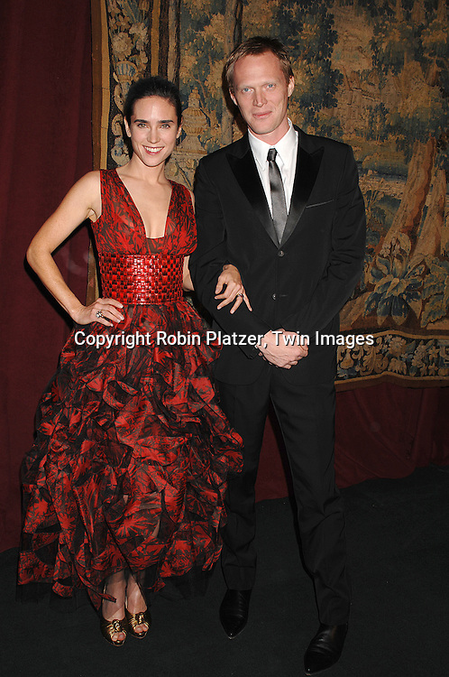 Jennifer  Connolly and husband Paul Bettany..arriving at The 7th on Sale Black Tie Gala Dinner on ..November 15, 2007 at The 69th Regiment Armory in New York. The Fashion Industry's Battle Against HIV and AIDS..will benefit...Robin Platzer, Twin Images