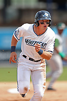 West Michigan Michigan Whitecaps designated hitter Cam Gibson (23) runs to third base against the Fort Wayne TinCaps during the Midwest League baseball game on April 26, 2017 at Fifth Third Ballpark in Comstock Park, Michigan. West Michigan defeated Fort Wayne 8-2. (Andrew Woolley/Four Seam Images)
