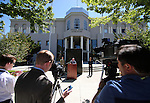 A press conference in front of the Legislative Building, in Carson City, Nev., on Friday, May 31, 2013. <br /> Photo by Cathleen Allison