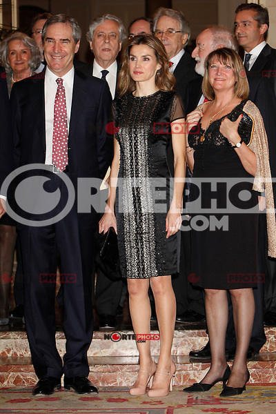 Princess Letizia of Spain and Michael Ignatieff attend the 'Francisco Cerecedo Journalism Award' ceremony at the Ritz Hotel in Madrid. November 20, 2012. (ALTERPHOTOS/Caro Marin) /NortePhoto