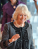 Camilla, the Duchess of Cornwall, wife of Britain's Prince Charles, waves to the photographers as she departs following a visit to the Shakespeare Theatre Company at Sidney Harman Hall in Washington, D.C. on Wednesday, March 18, 2015. <br /> Credit: Ron Sachs / CNP