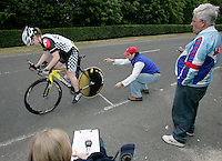 05 MAY 2007 - STETCHWORTH, UK - A competitor starts at the BUSA 25 Mile Time Trial Championships. (PHOTO (C) NIGEL FARROW)