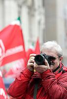 Manifestazione di pensionati dello Spi Cgil a Piazza Navona, Roma, 5 marzo 2009..Italian pensioners take part in a rally organized by Italy's largest union Cgil in Rome's Piazza Navona, 5 marzo 2009..UPDATE IMAGES PRESS/Riccardo De Luca