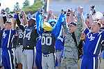 September 10, 2016 - Colorado Springs, Colorado, U.S. - Air Force players, cheerleaders, cadets, and mascot, The Bird, celebrate following their victory in the NCAA Football game between the Georgia State Panthers and the Air Force Academy Falcons at Falcon Stadium, U.S. Air Force Academy, Colorado Springs, Colorado.  Air Force defeats Georgia State 48-14.