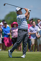 Roberto Diaz (MEX) watches his tee shot on 8 during round 4 of the AT&T Byron Nelson, Trinity Forest Golf Club, Dallas, Texas, USA. 5/12/2019.<br /> Picture: Golffile   Ken Murray<br /> <br /> <br /> All photo usage must carry mandatory copyright credit (© Golffile   Ken Murray)