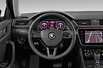 Car pictures of steering wheel view of a 2020 Skoda Superb 5 Door Wagon Steering Wheel