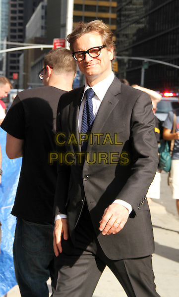 July 16, 2014:  Colin Firth at the LateShow with David Letterman<br />  to talk about new movie Magic in the Moonlight in New York.<br /> CAP/MPI/RW<br /> &copy;RW/ MediaPunch/Capital Pictures