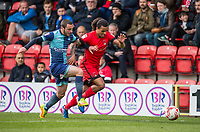 Sandro Semedo of Leyton Orient & Myles Weston of Wycombe Wanderers during the Sky Bet League 2 match between Leyton Orient and Wycombe Wanderers at the Matchroom Stadium, London, England on 1 April 2017. Photo by Andy Rowland.