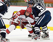 Luke Greiner (Harvard - 26), Carson Cooper (Yale - 9) - The Yale University Bulldogs defeated the Harvard University Crimson 5-1 on Saturday, November 3, 2012, at Bright Hockey Center in Boston, Massachusetts.