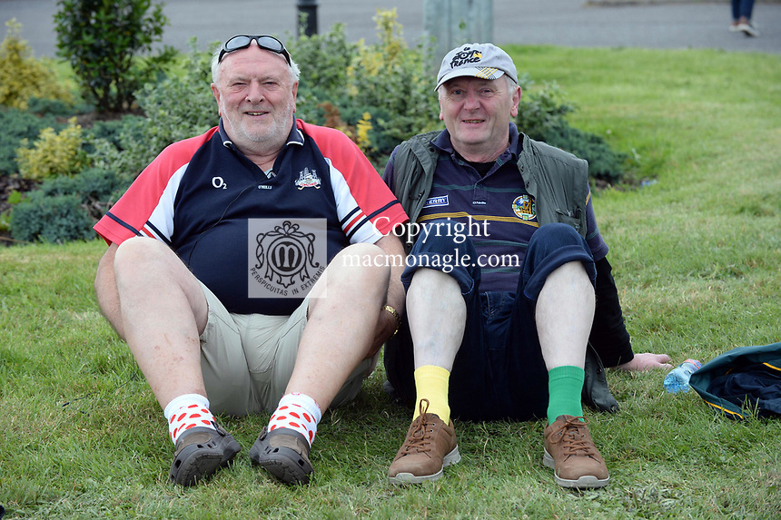 2-7-2017: Odd socks... Ted Crowley, Midleton and Tadhg Moriarty, Listowel pictured at the Kerry V Cork Munster Football final in Killarney on Sunday.<br /> Photo: Don MacMonagle