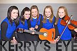 Contestants from Glenflesk in the Munster Semi finals of Scór na nÓg held last Sunday in Askeaton, Co Limerick, pictured l-r: Mairead Ní Chéilleachair, Róisín Ní Chéilleachair, Sinéad Ní Mhuimhneacháin, Lúsaí Ní Chróinin and Eibhlín Ní Chróinin.