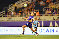 Orlando, FL - Saturday September 10, 2016: Sarah Hagen during a regular season National Women's Soccer League (NWSL) match between the Orlando Pride and Sky Blue FC at Camping World Stadium.