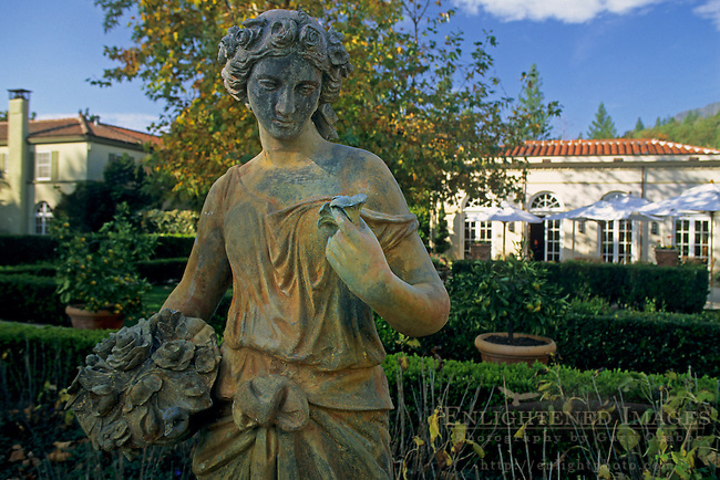 Statue at Chateau St. Jean Winery, Valley of the Moon, Sonoma County, California