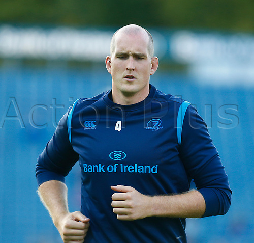 8th September 2017, RDS Arena, Dublin, Ireland; Guinness Pro14 Rugby, Leinster versus Cardiff Blues; Devin Toner of Leinster to receive his 100 caps in tonights match