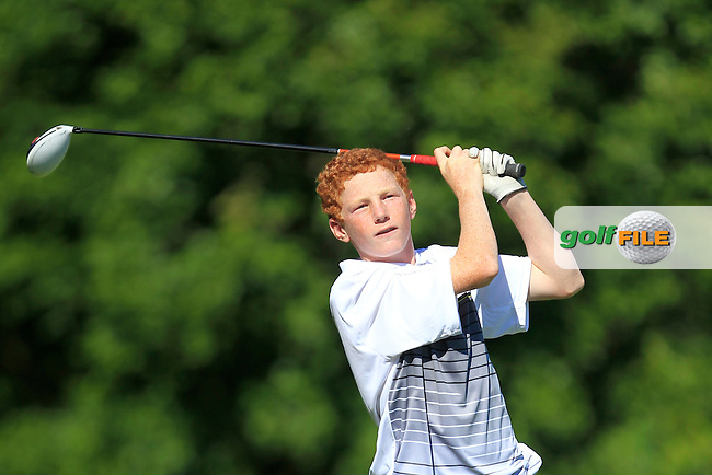 John Murphy (Kinsale) on the 9th tee during Round 2 of the Ulster Boys' Amateur Open Championship in Clandeboye Golf Club on Wednesday 9th July 2014.<br /> Picture:  Thos Caffrey / www.golffile.ie