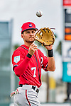 24 February 2019: Washington Nationals infielder Trea Turner warms up prior to a Spring Training game against the St. Louis Cardinals at Roger Dean Stadium in Jupiter, Florida. The Nationals defeated the Cardinals 12-2 in Grapefruit League play. Mandatory Credit: Ed Wolfstein Photo *** RAW (NEF) Image File Available ***