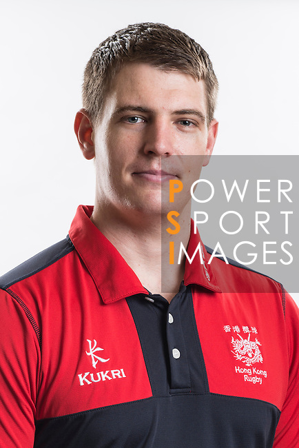Hong Kong Junior Squad management team member Luke Davey poses during the Official Photo Session Day at King's Park Sports Ground ahead the Junior World Rugby Tournament on 25 March 2014. Photo by Andy Jones / Power Sport Images