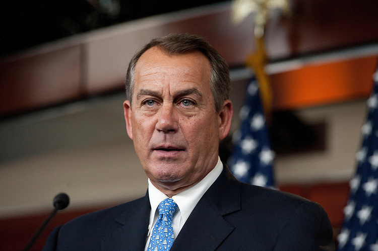 UNITED STATES – FEBRUARY 3: Speaker of the House John Boehner, R-Ohio, speaks during the House Republican news conference in the Capitol on Friday, Feb. 3, 2012. (Photo by Bill Clark/CQ Roll Call)