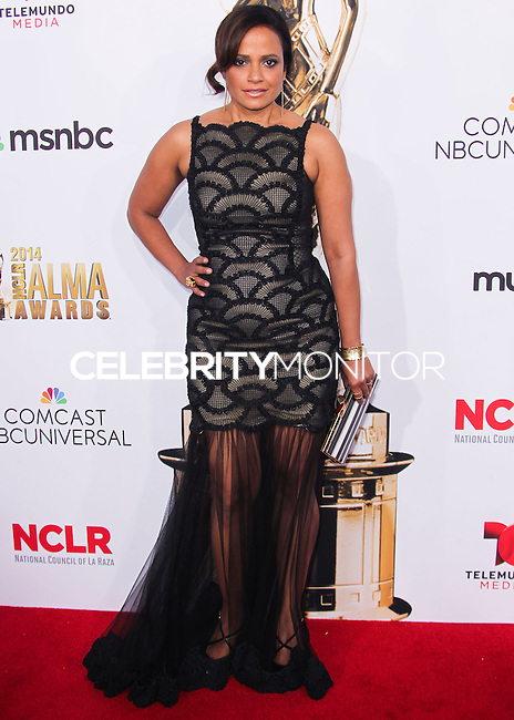 PASADENA, CA, USA - OCTOBER 10: Judy Reyes arrives at the 2014 NCLR ALMA Awards held at the Pasadena Civic Auditorium on October 10, 2014 in Pasadena, California, United States. (Photo by Celebrity Monitor)