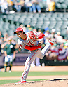 MLB: Los Angeles Angels Shohei Ohtani pitches against Oakland Athletics