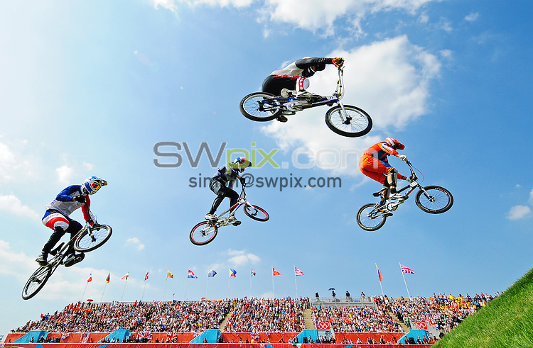 PICTURE BY ALEX BROADWAY /SWPIX.COM - Olympics - Day Fourteen - BMX, BMX Park, Olympic Park, London, England - 10/08/12 -