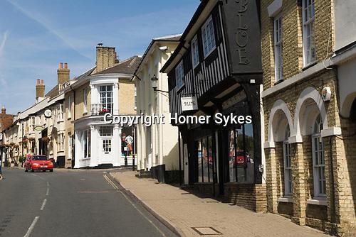 Saffron Walden Essex England 2009. Bridge Street. building is Saffron Hotel.