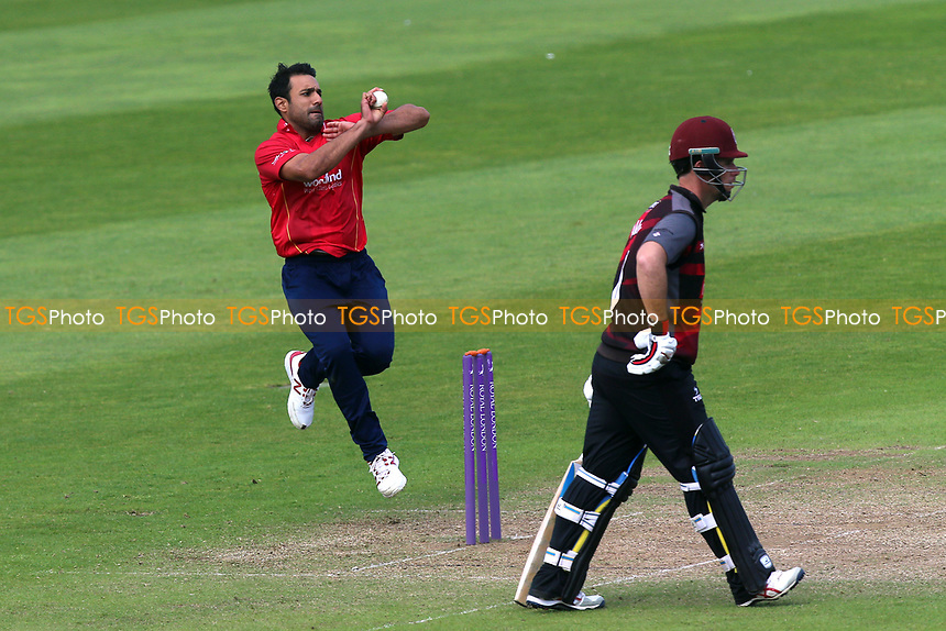 Ravi Bopara in bowling action for Essex during Somerset vs Essex Eagles, Royal London One-Day Cup Cricket at The Cooper Associates County Ground on 14th May 2017