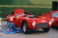 August 26th 1984, Laguna Seca Raceway, CA. 1954 Ferrari 375+ Type Le Mans. This was the largest concentration of Ferrari, more than 3.000 models and proud owners show their cars and race with them.
