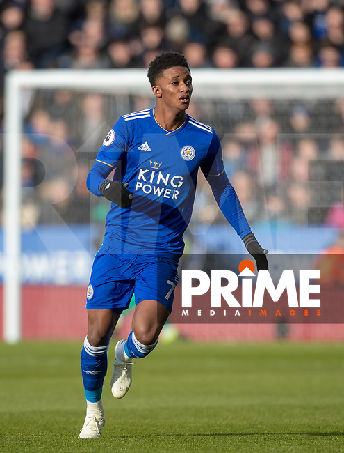 Demarai Gray of Leicester City during the Premier League match between Leicester City and Manchester United at the King Power Stadium, Leicester, England on 3 February 2019. Photo by Andy Rowland.