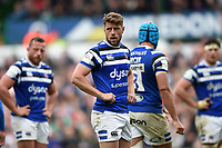 Rhys Priestland of Bath Rugby looks on during a break in play. Gallagher Premiership match, between Leicester Tigers and Bath Rugby on May 18, 2019 at Welford Road in Leicester, England. Photo by: Patrick Khachfe / Onside Images
