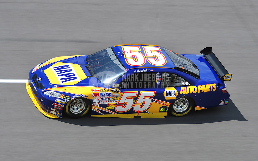 Apr 25, 2008; Talladega, AL, USA; NASCAR Sprint Cup Series driver Michael Waltrip during practice for the Aarons 499 at Talladega Superspeedway. Mandatory Credit: Mark J. Rebilas-US PRESSWIRE