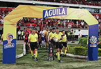 CÚCUTA- COLOMBIA, 02-10-2019:Jhon Ospina Londoño referee central.Acción de juego entre los equipos Cúcuta Deportivo  y Millonarios  durante partido por la fecha 14 de la Liga Águila II  2019 jugado en el estadio General Santander de la ciudad de Cúcuta . /Central referee Jhon Ospina Londono.Acion game between  Cucuta Deportivo and Millonarios during the match for the date 14 of the Liga Aguila II 2019 played at the General Santander  stadium in Cucuta  city. Photo: VizzorImage / Manuel Hernández  / Contribuidor