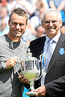Four-time champions Lleyton Hewitt and Roy Emerson<br />