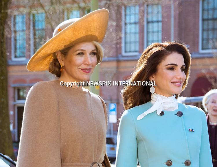 Queen Rania, King Abdullah & Queen Maxima-The Hague