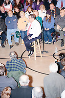 Republican presidential candidate and New Jersey governor Chris Christie speaks at his final New Hampshire town hall of the primary election at the St. George Greek Orthodox Cathedral in Manchester, New Hampshire, on Mon., Feb., 8, 2016.