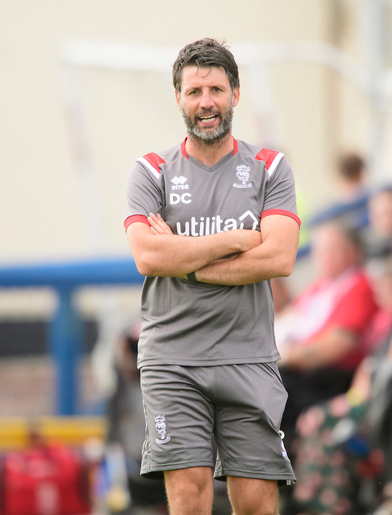 Lincoln City manager Danny Cowley<br /> <br /> Photographer Chris Vaughan/CameraSport<br /> <br /> Football Pre-Season Friendly (Community Festival of Lincolnshire) - Gainsborough Trinity v Lincoln City - Saturday 6th July 2019 - The Martin & Co Arena - Gainsborough<br /> <br /> World Copyright © 2018 CameraSport. All rights reserved. 43 Linden Ave. Countesthorpe. Leicester. England. LE8 5PG - Tel: +44 (0) 116 277 4147 - admin@camerasport.com - www.camerasport.com