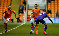 Blackpool's Liam Feeney takes on Tranmere Rovers' Calum Woods<br /> <br /> Photographer Alex Dodd/CameraSport<br /> <br /> The EFL Sky Bet League One - Blackpool v Tranmere Rovers - Tuesday 10th March 2020 - Bloomfield Road - Blackpool<br /> <br /> World Copyright © 2020 CameraSport. All rights reserved. 43 Linden Ave. Countesthorpe. Leicester. England. LE8 5PG - Tel: +44 (0) 116 277 4147 - admin@camerasport.com - www.camerasport.com