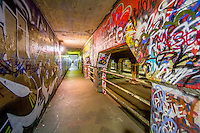 The Krog Street Tunnel is known for its street art.
