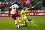 30.11.2019, RheinEnergieStadion, Koeln, GER, 1. FBL, 1.FC Koeln vs. FC Augsburg,<br />  <br /> DFL regulations prohibit any use of photographs as image sequences and/or quasi-video<br /> <br /> im Bild / picture shows: <br /> Torchance fuer Jhon Córdoba (FC Koeln #15),    gege3n Tomas Koubek Torwart (FC Augsburg #21),  <br /> <br /> Foto © nordphoto / Meuter