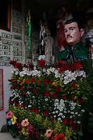 Jesus Malverde, the patron saint of Drug cartels in Culican, Sinaloa, Mexico.