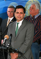 Phil Gordon Mayor of Phoenix Speaking at the fourth annual Stop Random Gunfire Press Conference in Phoenix, AZ, on this Wednesday, December 29, 2010. Background L to R  .Bill Montgomery Maricopa County Attorney, .Claude Mattox City Councilman.Photo by AJ Alexander/AJAimages