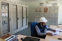 TURKEY, Mengen, Köprübaşı HEPP, hydro power station of Yueksel Holding / TUERKEI, Mengen, Köprübaşı HEPP, Wasserkraftwerk der Yueksel Holdung, Leitzentrale Trafo Station und Umspannwerk