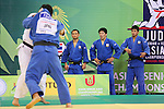(L to R) Masashi Ebinuma, Riki Nakaya, Takahiro Nakai (JPN), .April 21, 2013 - Judo : .Asian Judo Championships 2013, Men's Team Competition Final .at Bangkok Youth Centre, Bangkok, Thailand. .(Photo by Daiju Kitamura/AFLO SPORT) [1045]