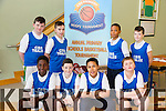 CBS Primary School Front L-R Jordan Morris, Greg Scanlon, Adam Looby Lugandu and  Andrew Sucaci. Back L-R Shane Bastable, Elliott Lynch, Ivan Duke and Dillon Harrisat the CBS Primary Hoops Tournament at John Mitchels Sports Hall on Friday