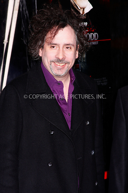 WWW.ACEPIXS.COM . . . . .  ....December 3, 2007. New York City.....Director Tim Burton attends the 'Sweeney Todd The Demon Barber of Fleet Street' premiere at the Ziegfeld Theater in New York City......Please byline: AJ Sokalner - ACEPIXS.COM.... *** ***..Ace Pictures, Inc:  ..Philip Vaughan (646) 769 0430..e-mail: info@acepixs.com..web: http://www.acepixs.com