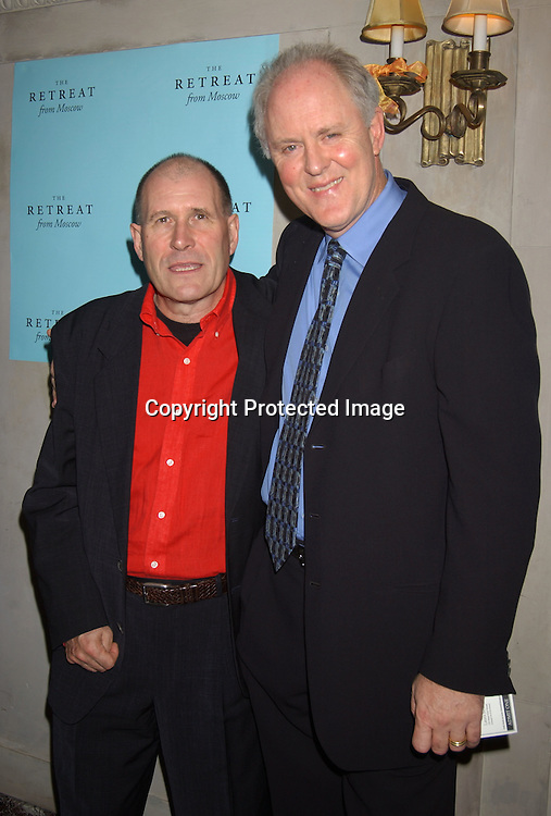 "William NIcholson and John Lithgow                                ..at the Broadway opening night party for  "" The Retreat From Moscow"" on October 23, 2003 at Laura Belle Supper Club . ..Photo by Robin Platzer, Twin Images"